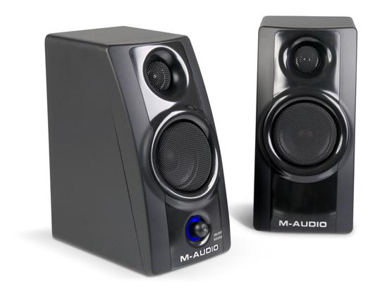 m audio introduces studiophile av 20 portable desktop speaker system synthtopia. Black Bedroom Furniture Sets. Home Design Ideas