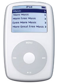iPod fat with music
