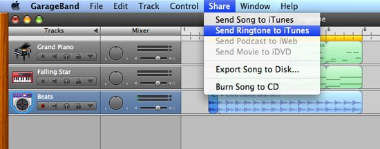 Send Your Ringtone To iTunes