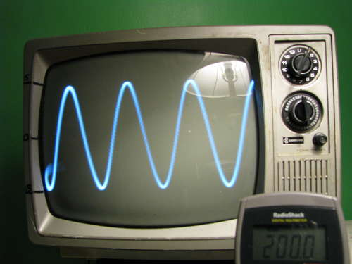 Old Oscilloscope Screen : Turn your old tv into an oscilloscope and try to avoid