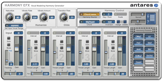 Antares Harmony Efx Vocal Modeling Harmony Generator
