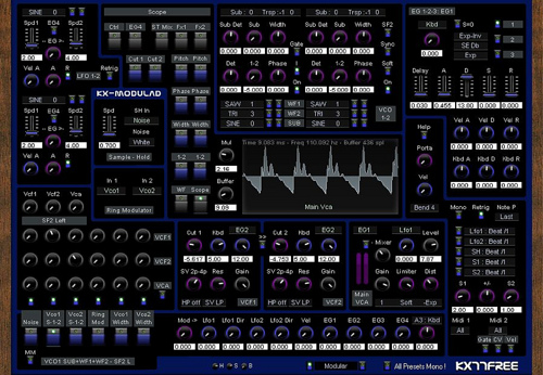free modular analog synthesizer for windows synthtopia. Black Bedroom Furniture Sets. Home Design Ideas
