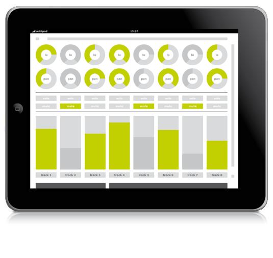 midipad turns your ipad into a multi touch midi controller synthtopia. Black Bedroom Furniture Sets. Home Design Ideas