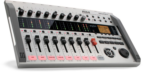 new zoom recorder r24 combines multi track recorder audio interface control surface drum pad. Black Bedroom Furniture Sets. Home Design Ideas