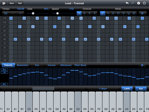 iPad MIDI Step Polyphonic Arpeggiator Now Sequences MIDI ...