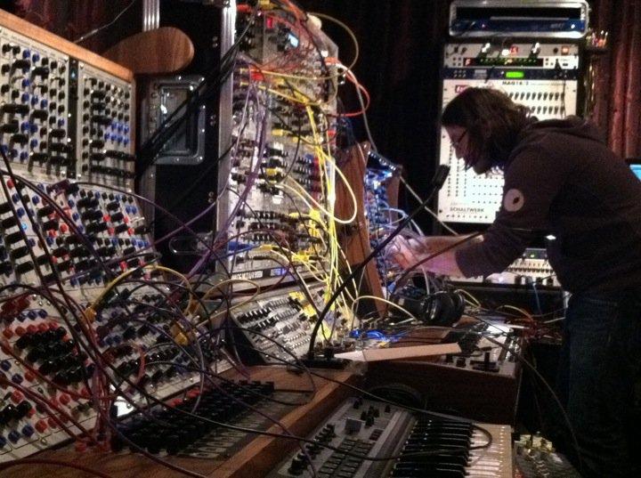 Alessandro Cortini in Trent Reznor's studio