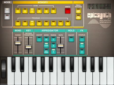 Epic Synth for iPad