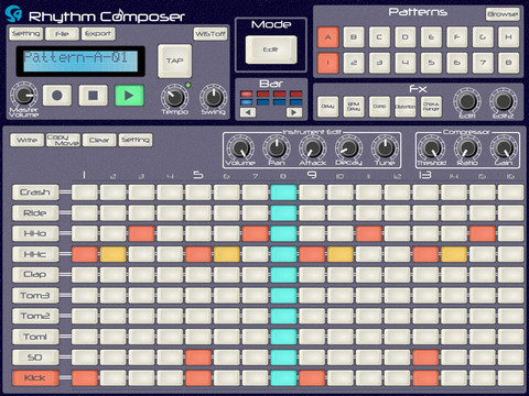free ipad drum machine s4 rhythm composer synthtopia. Black Bedroom Furniture Sets. Home Design Ideas