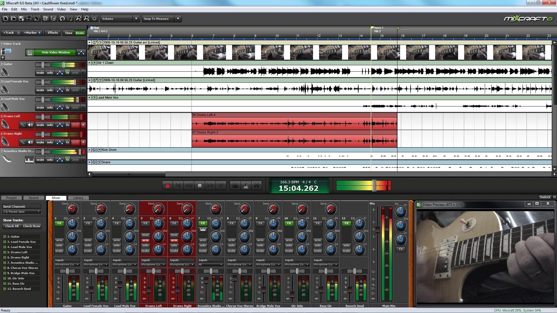 Mixcraft 6 Screenshot | Synthtopia