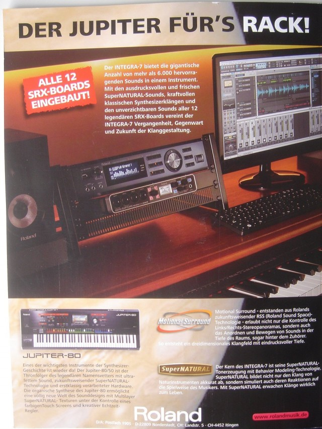 roland integra 7 rack synthesizer on the way synthtopia. Black Bedroom Furniture Sets. Home Design Ideas
