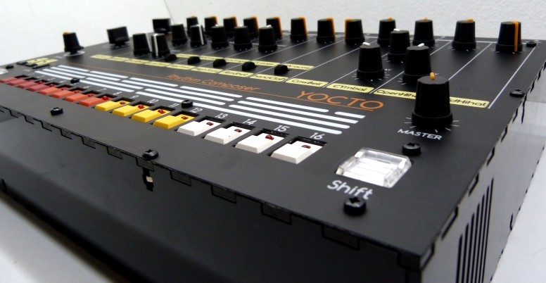 build your own roland tr 808 drum machine clone the yocto synthtopia. Black Bedroom Furniture Sets. Home Design Ideas