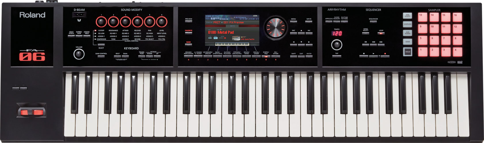 roland fa 06 workstation first look 2014 namm show synthtopia. Black Bedroom Furniture Sets. Home Design Ideas