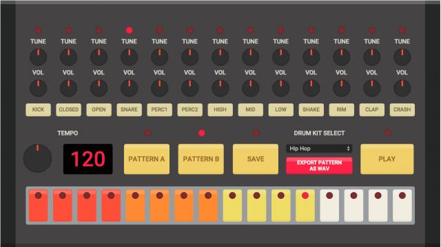 html-drum-machine