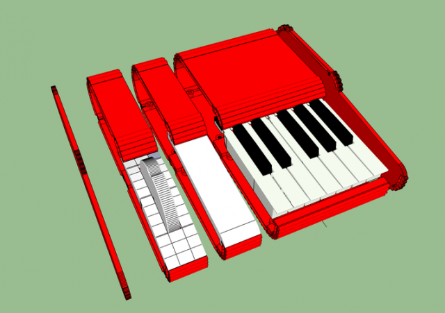 3d printable modular synthesizer control keyboard synthtopia. Black Bedroom Furniture Sets. Home Design Ideas