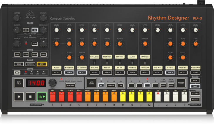 how to update firmware behringer rd-8