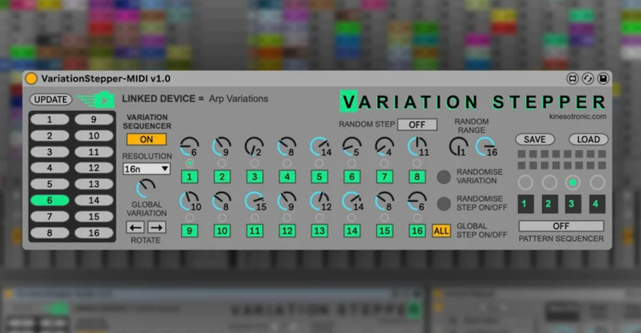 Free Max For Live Device, Variation Stepper, Lets You Sequence & Randomize Variation Settings